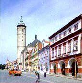 věž děkanského kostela