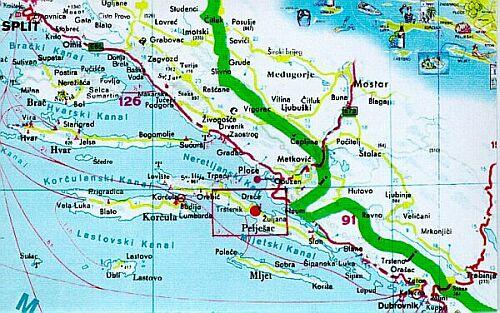 Mapa Chorvatsko Mapa Pobrezi